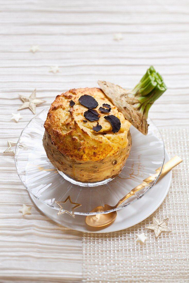 Celeriac and truffle soufflé