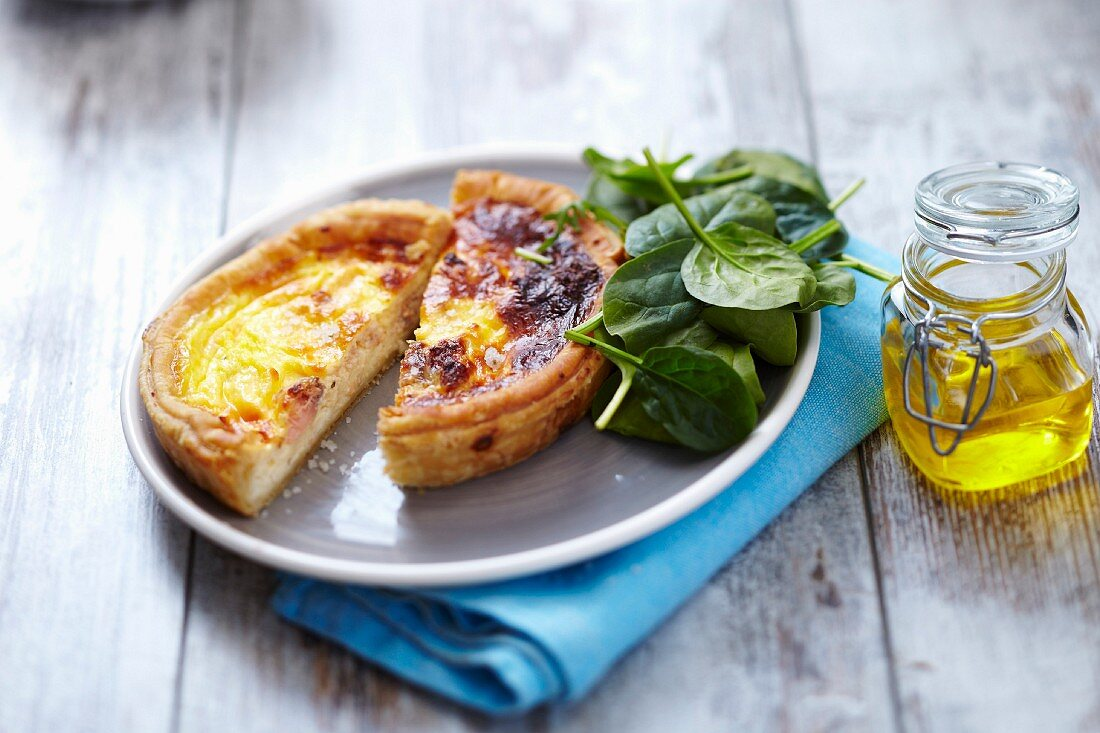 Salmon-sorrel quiche