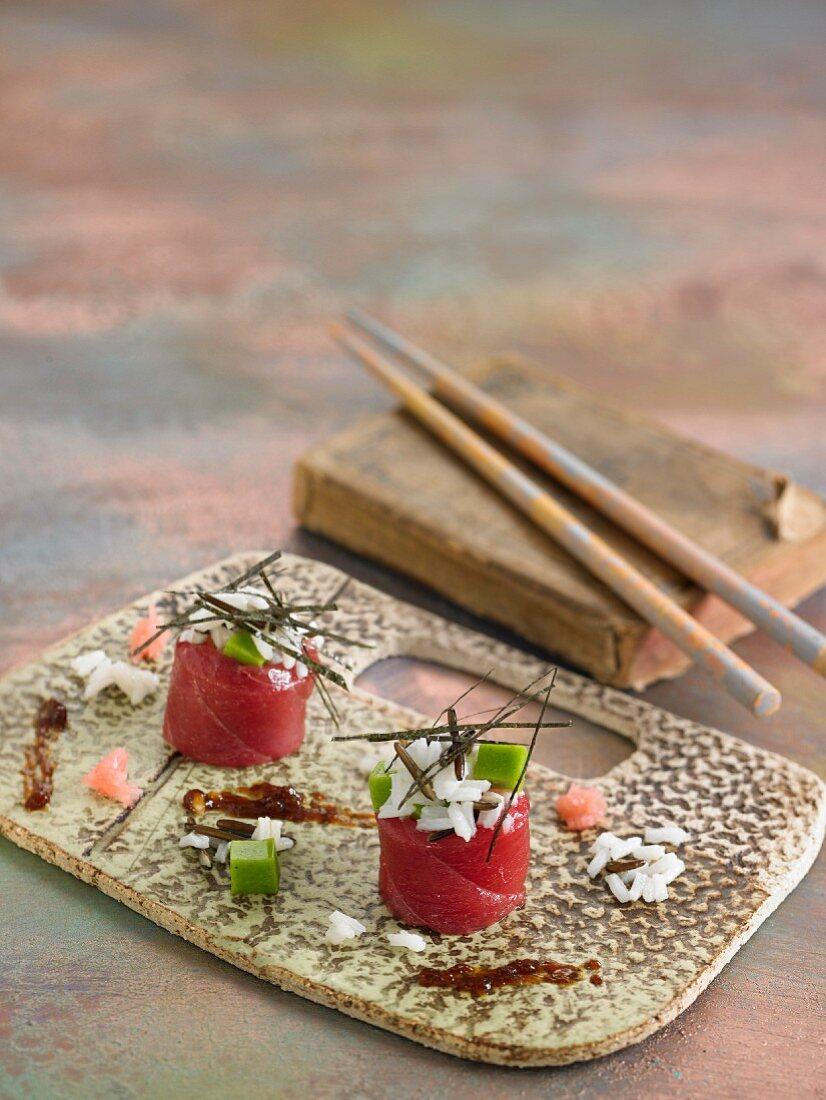 Tunafish maki sushi