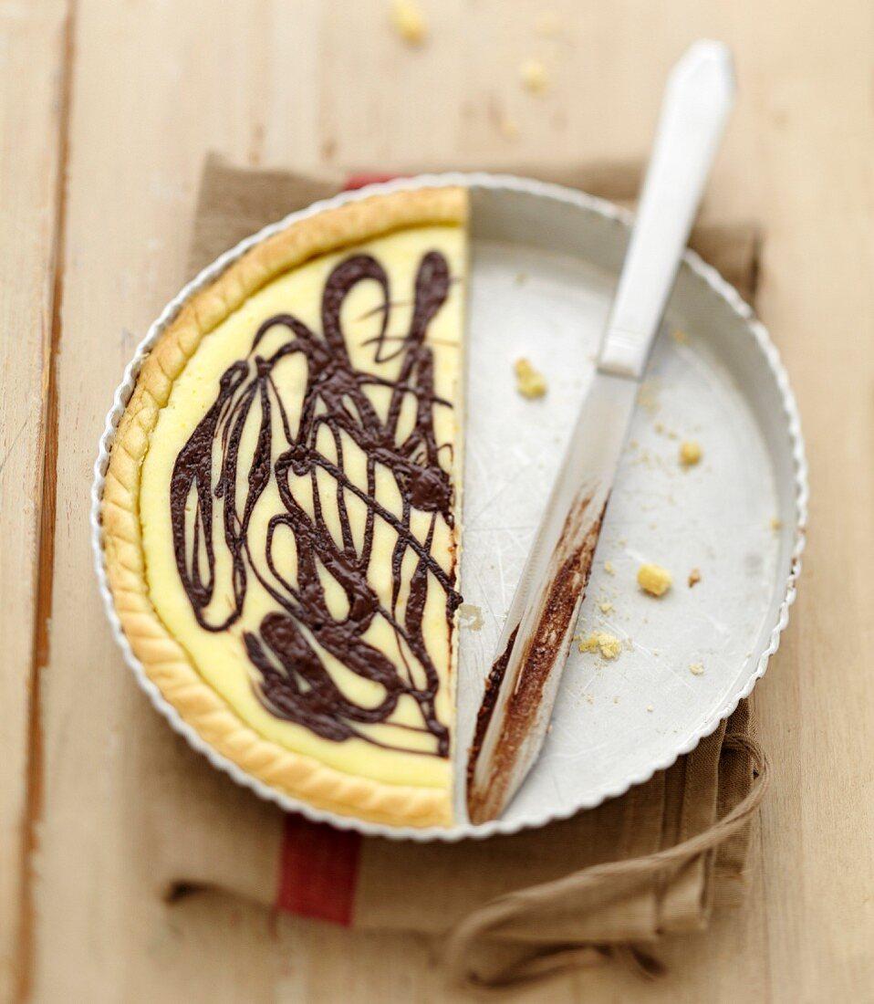Ricotta-Schokoladen-Tarte