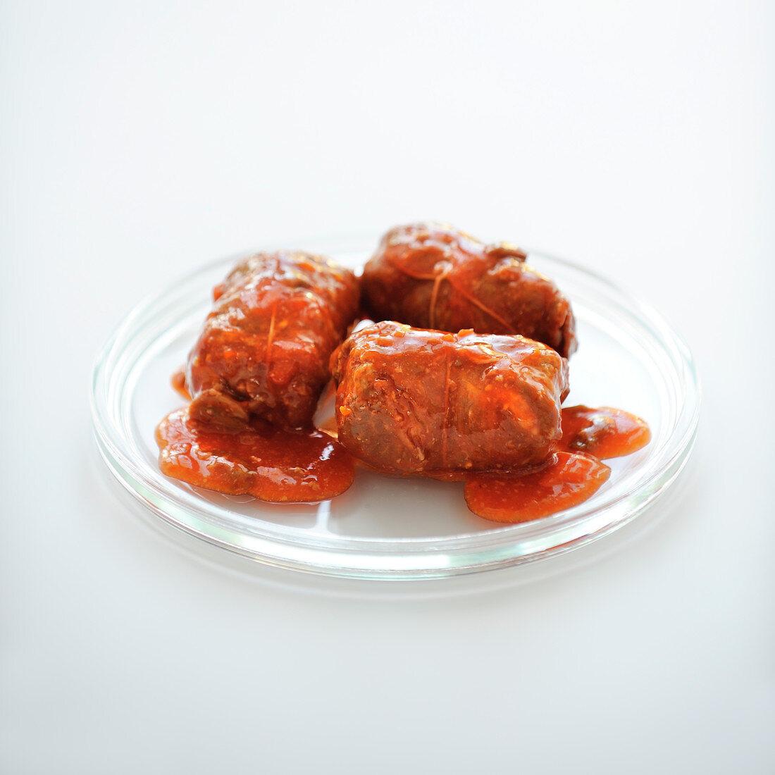 Pork Paupiettes in tomato sauce