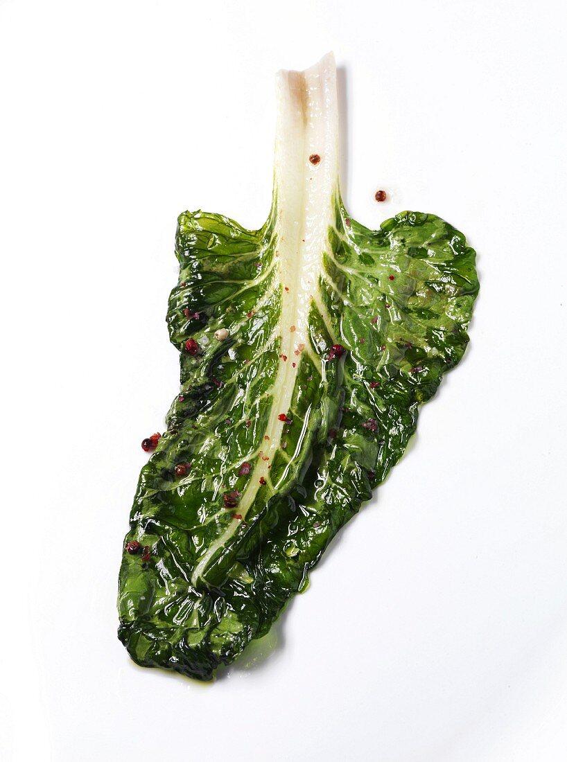 Swiss chard leaf confit