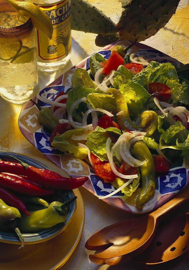 Mexican Salad with Chilis