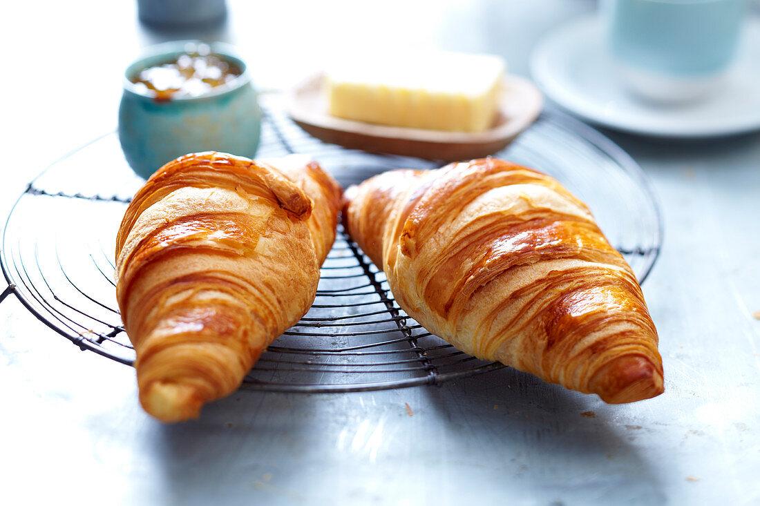 Butter croissants for breakfast