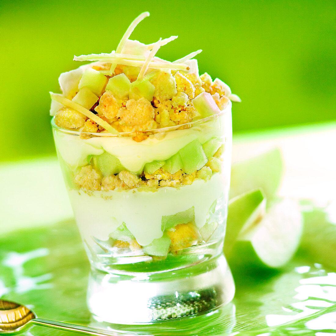 Green apple tiramisu