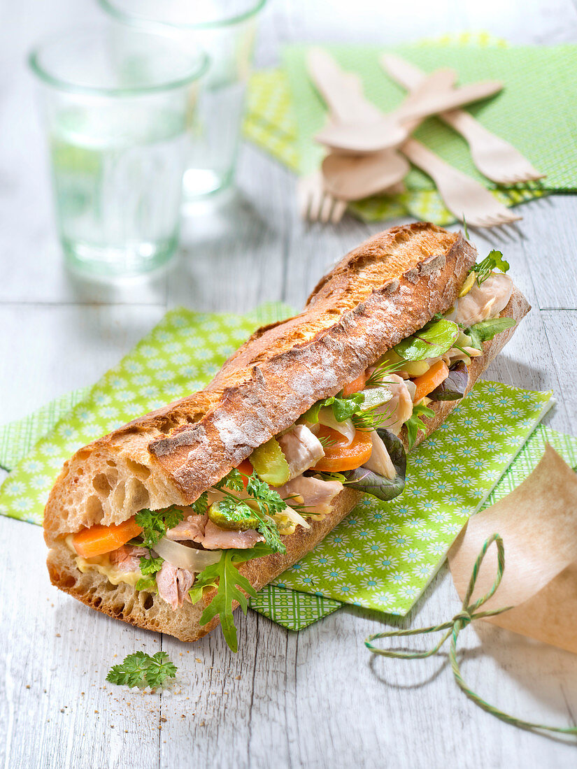 Pot-Au-Feu-Style Chicken Sandwich
