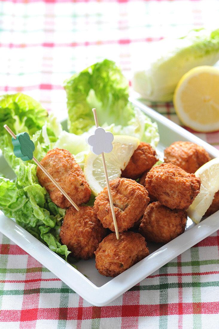 Salt-cod accras