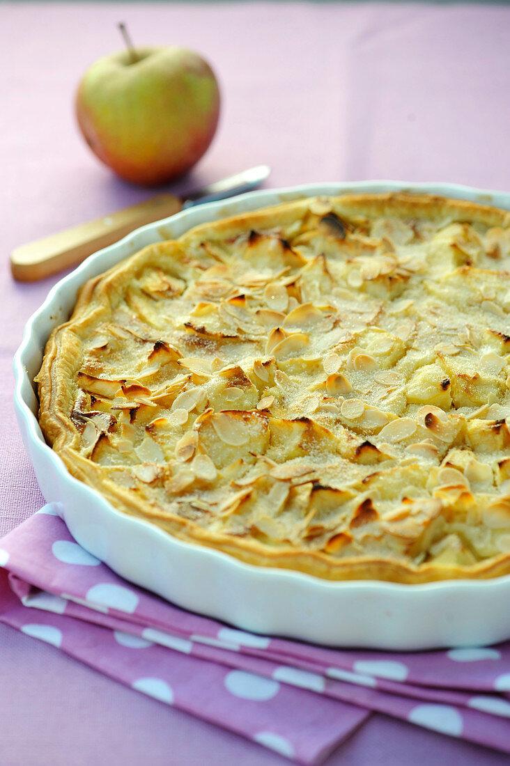 Tarte normande aux pommes ,Normandy apple pie