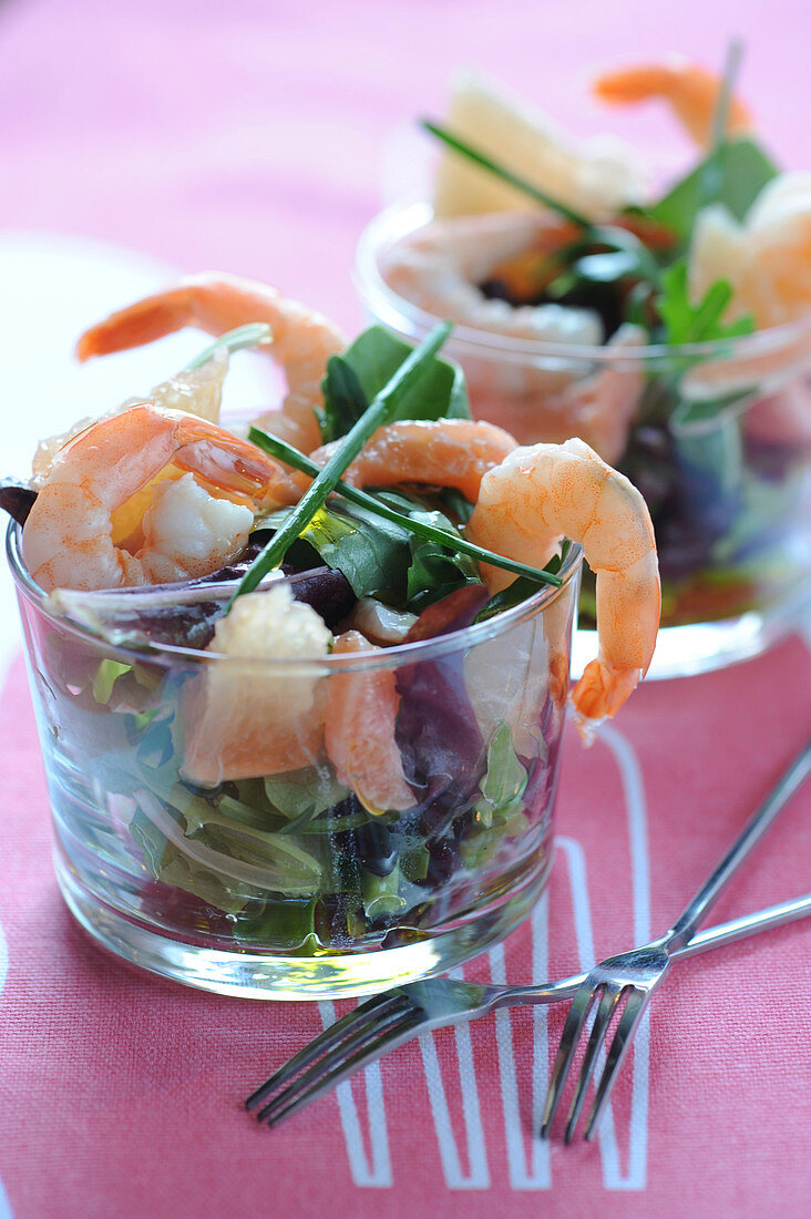 Atlantic grapefruit and shrimp cocktail