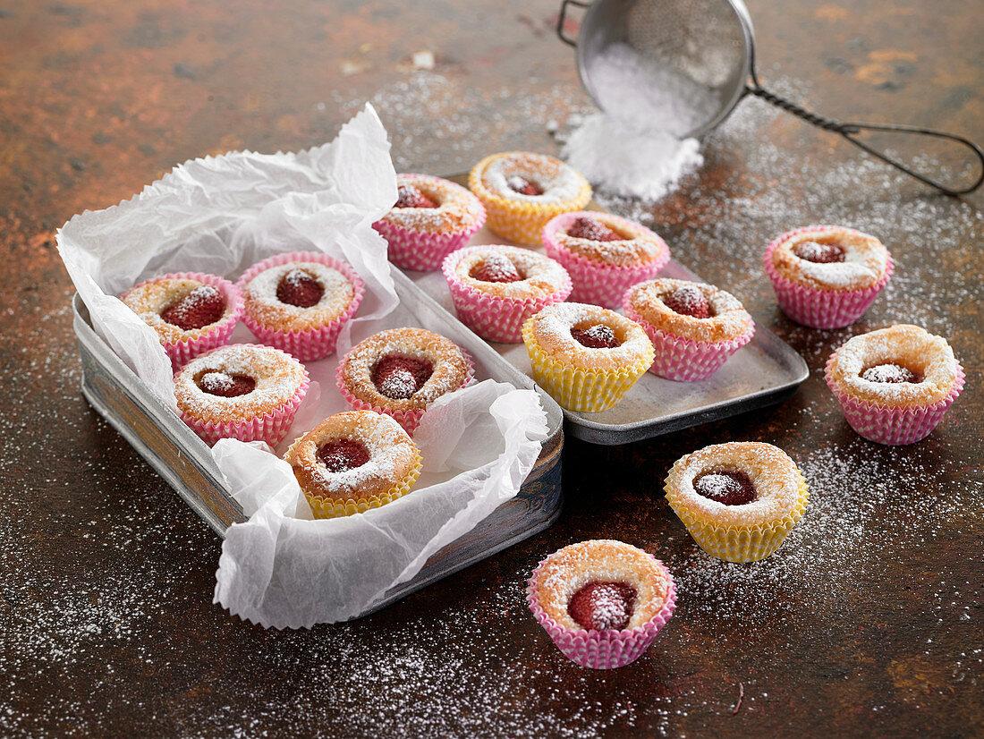 Raspberry Mignardises,sweet petits-fours