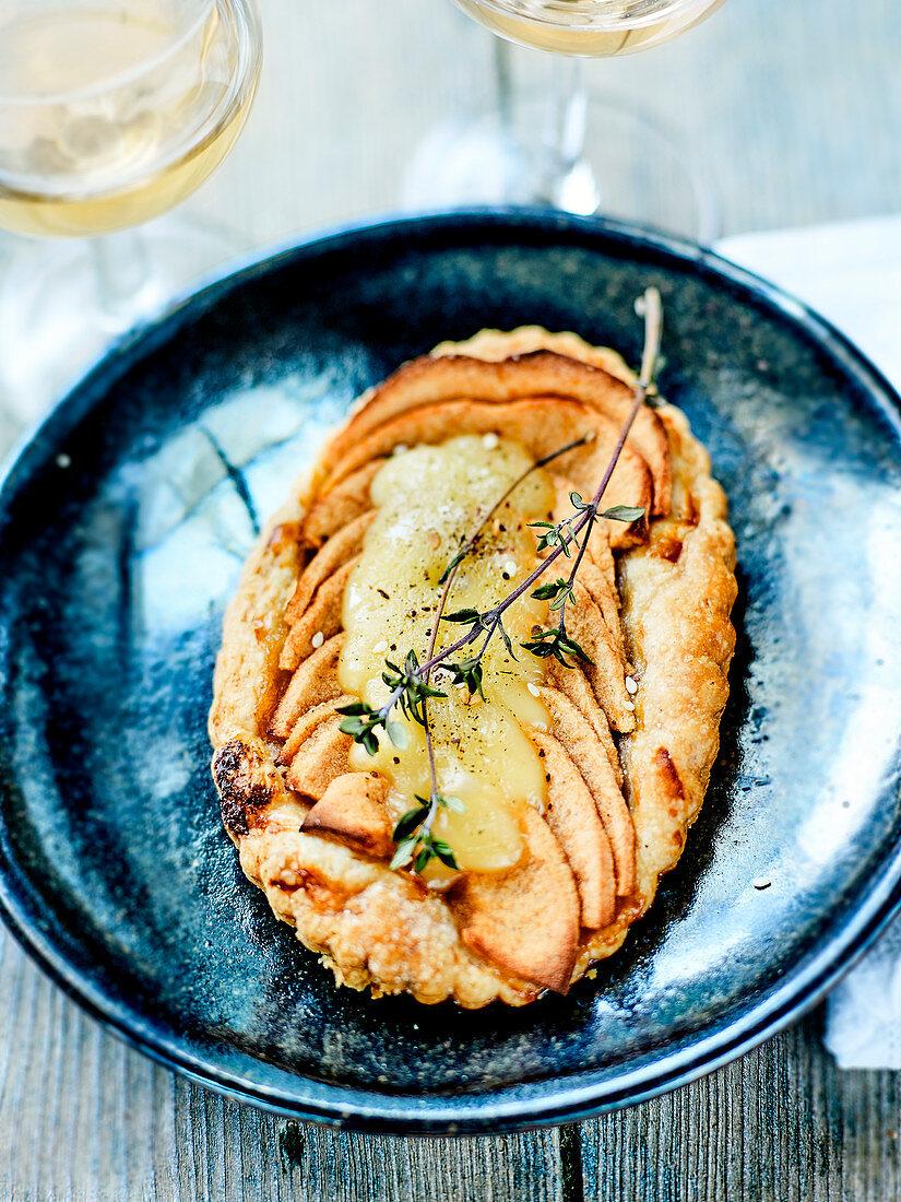 Apple,Maroilles And Lemon Thyme Tartlet