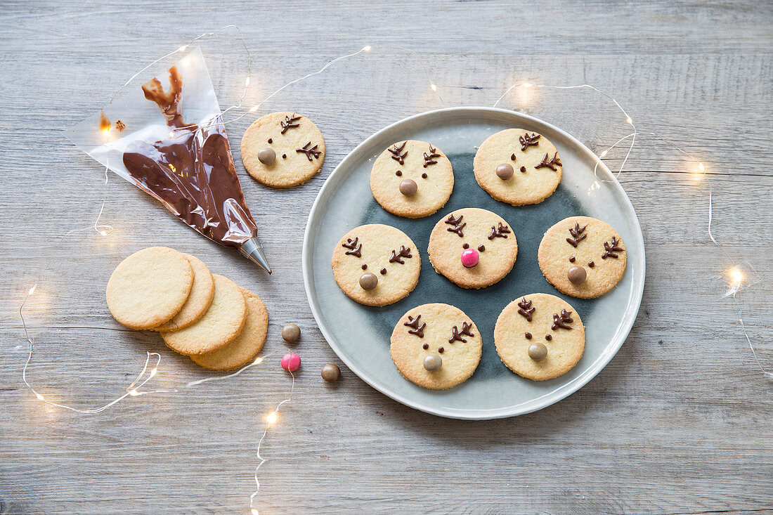 Reindeer Christmas Shortbread Biscuits