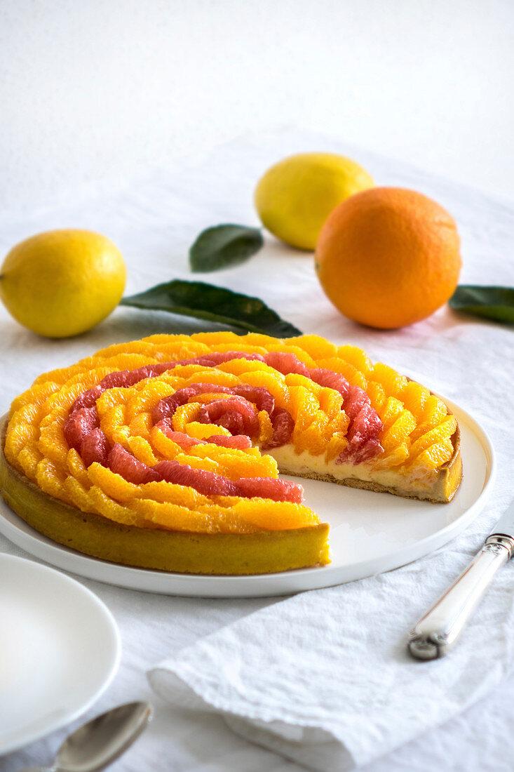 Citrus fruit tart