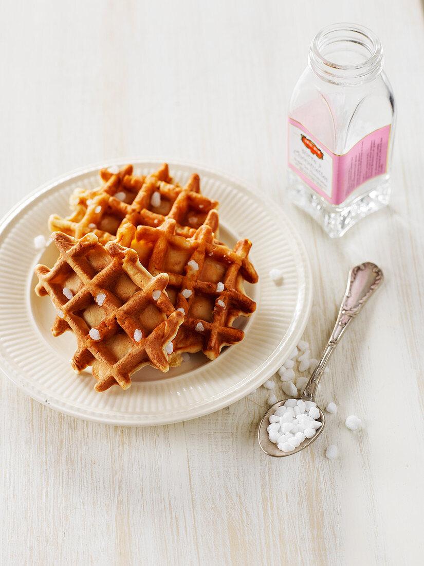 Liege Waffles With Sugar