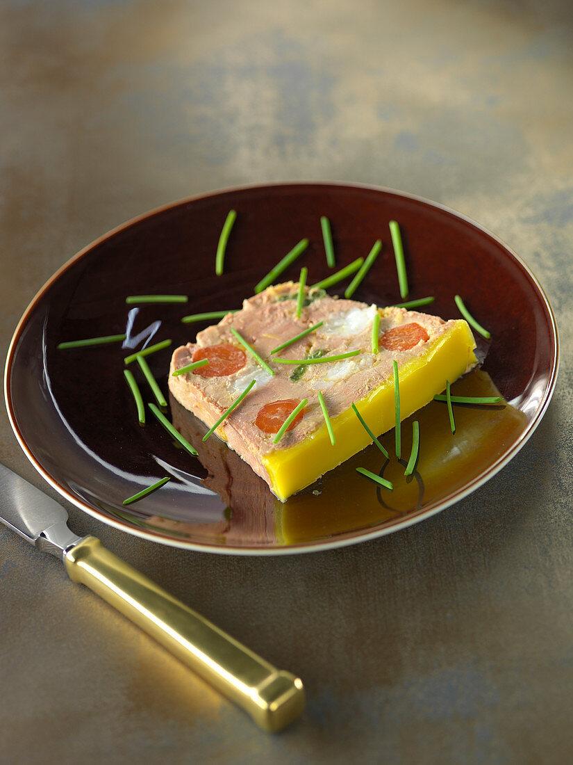 Terrine of foie gras with langoustines