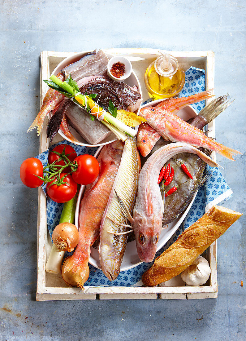 Ingredients for a Bouillabaisse