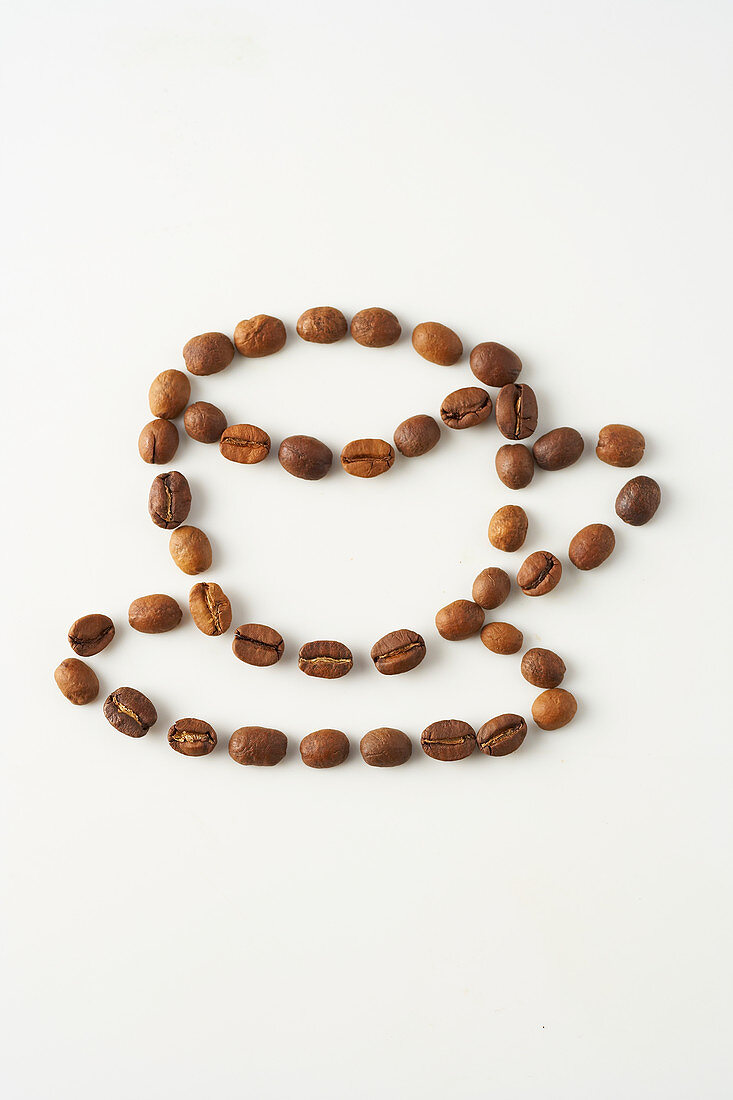 Coffee bean in cup shape