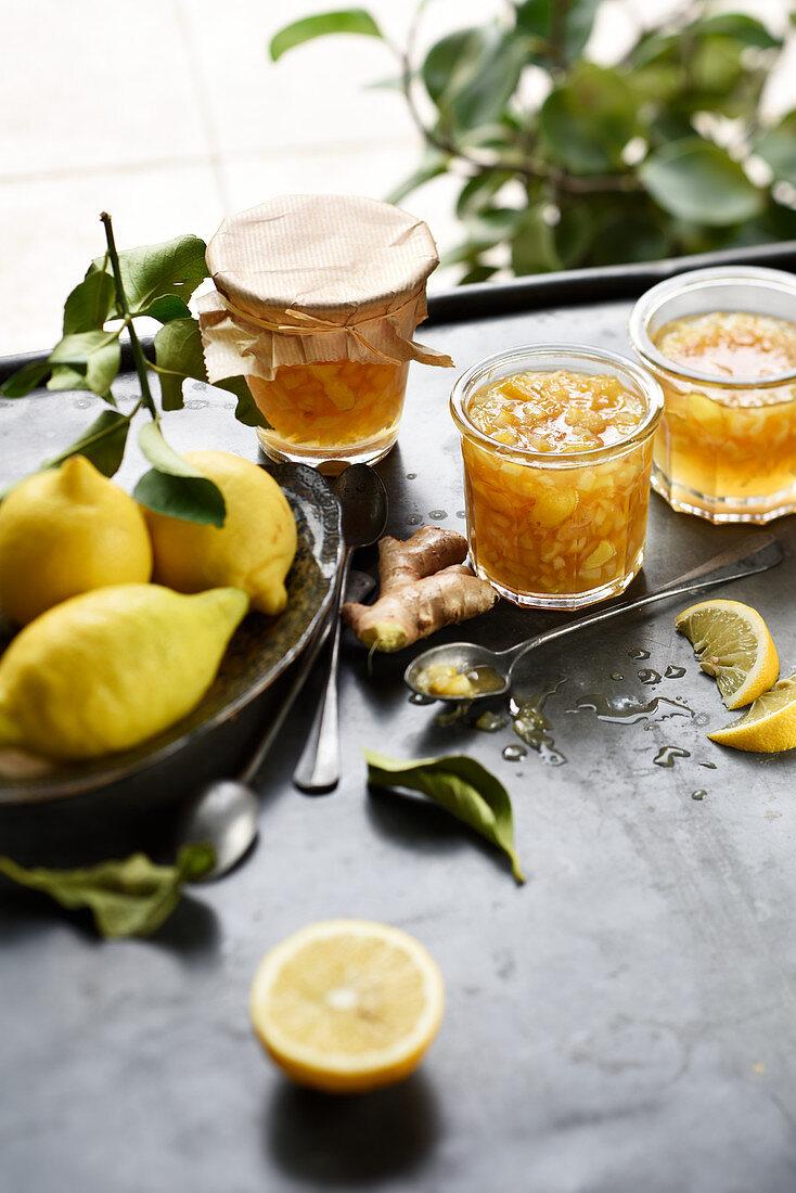 Lemon and ginger marmelade