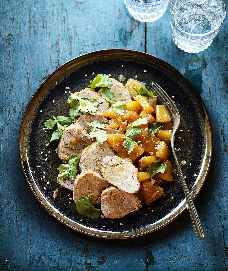 Pork Filet Mignon with pineapple