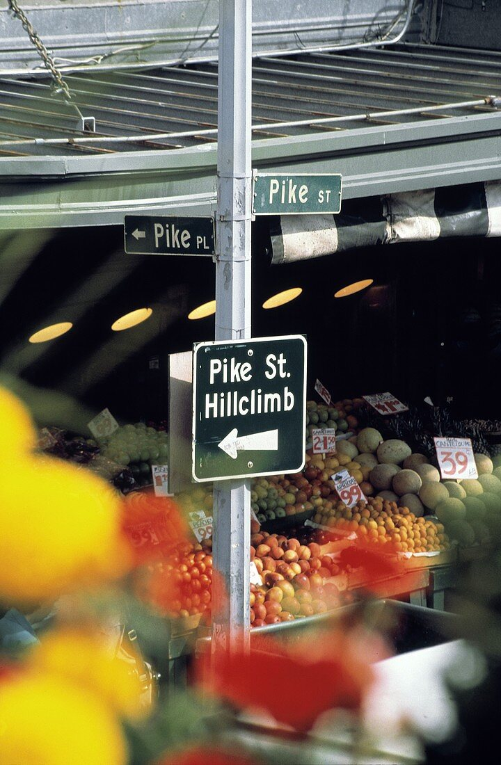 Fruit Stand on Pike Street in Seattle