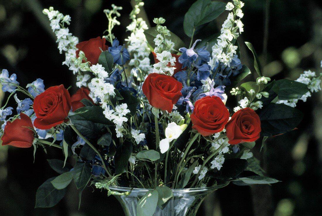 Beautiful Flower Arrangement in Glass Vase