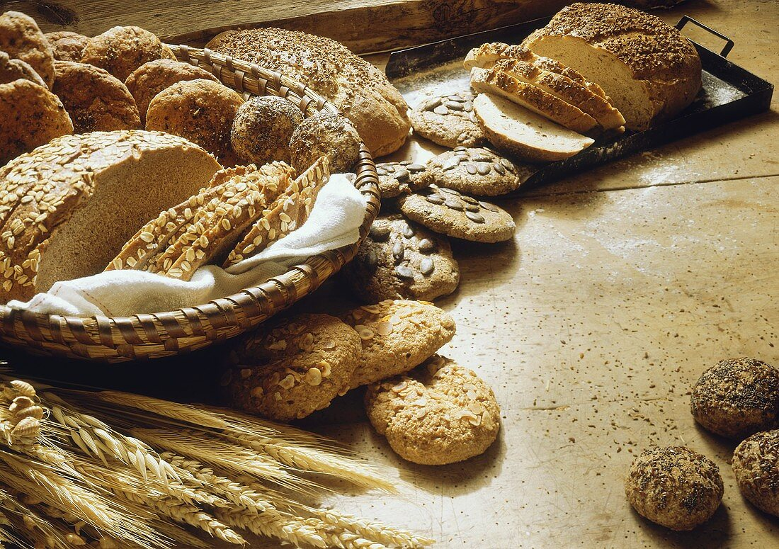 Hearty wholemeal breads