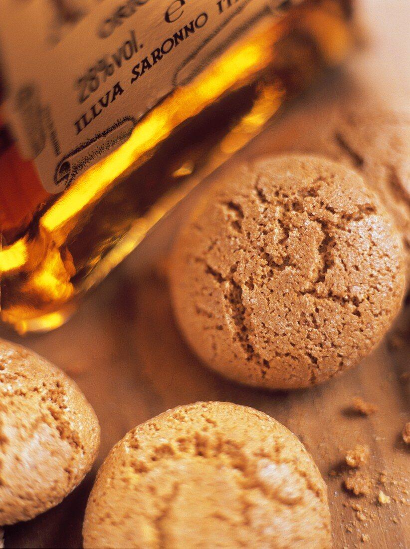 Amaretti di Saronno (Almond biscuits and almond liqueur, Italy)