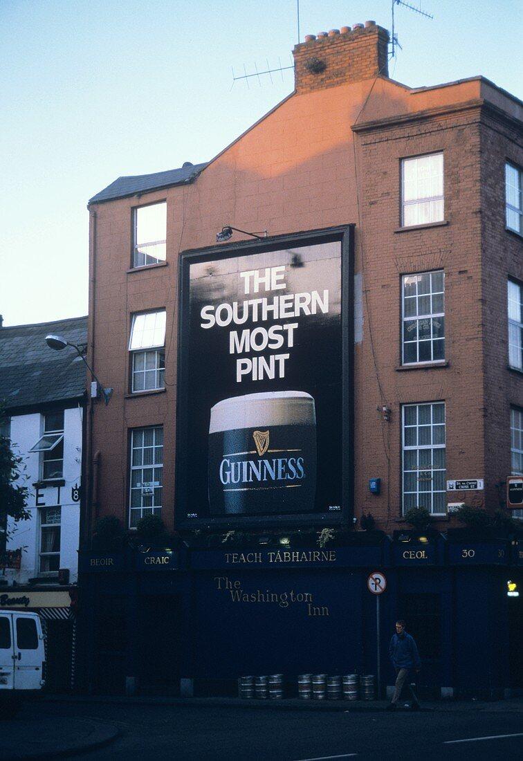 Guinness Billboard in Cork Ireland