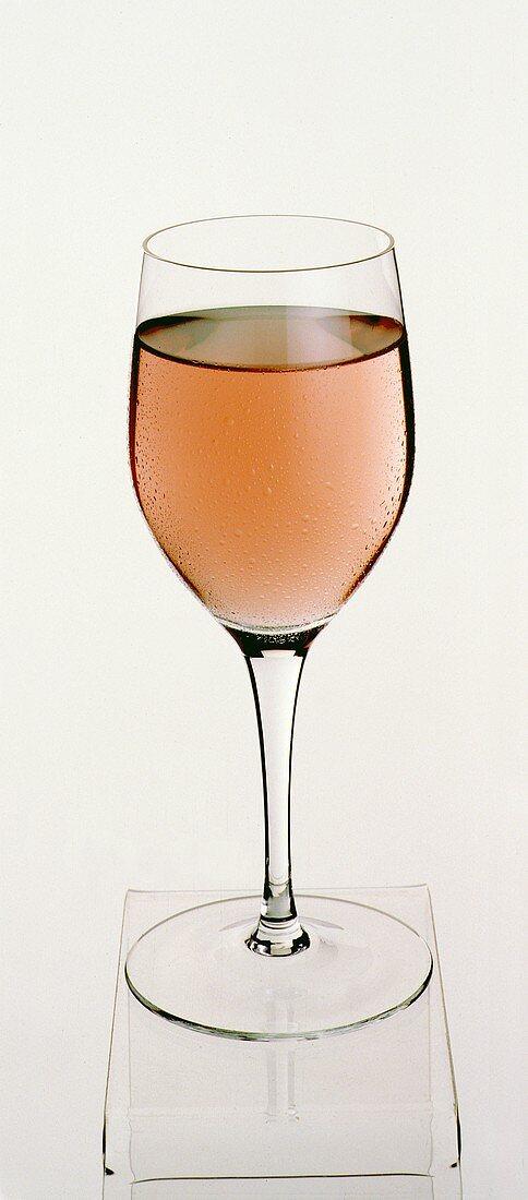 A Glass of Blush Wine