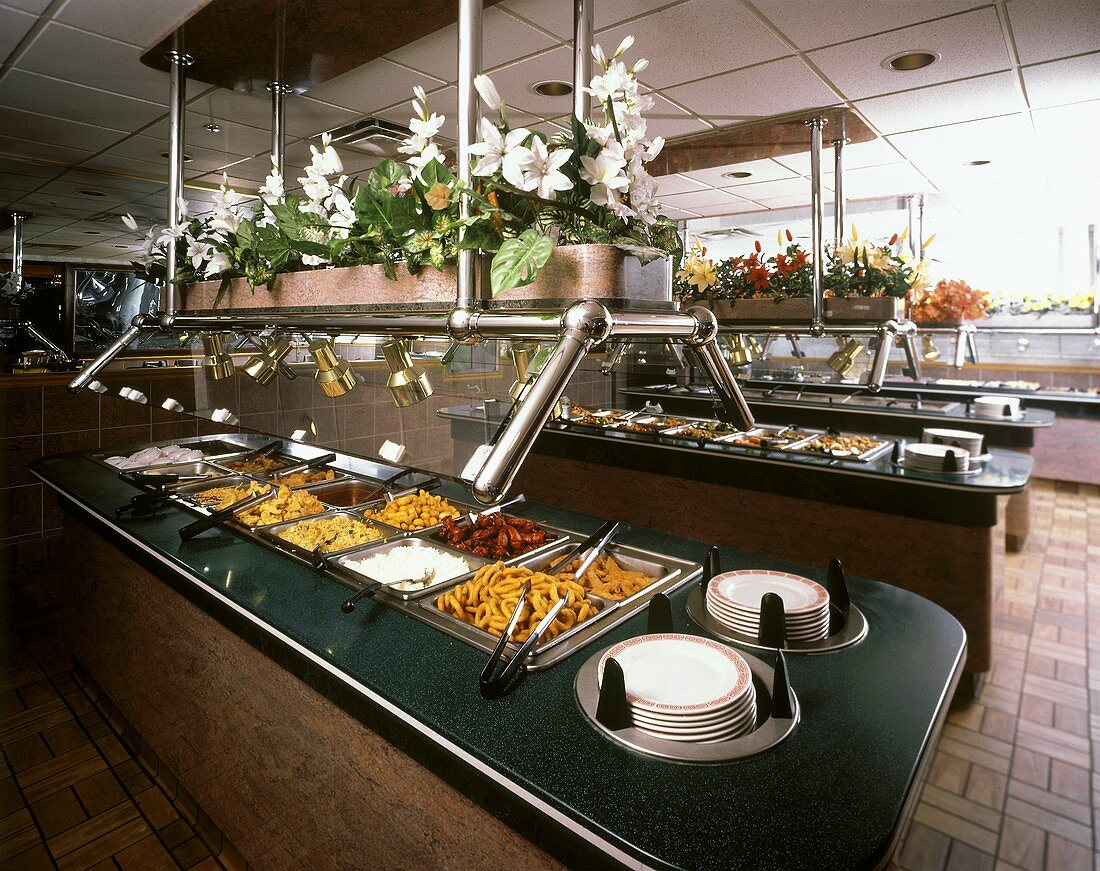 Chinese Restaurant Buffet Table