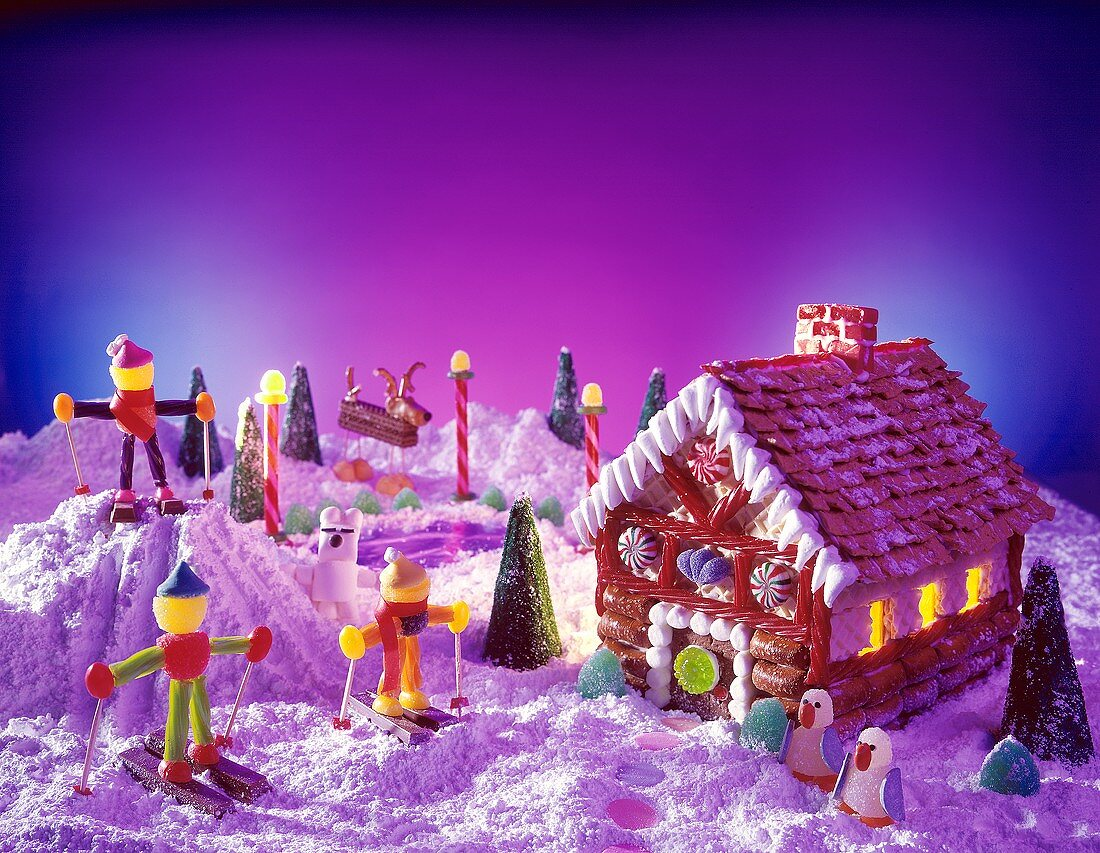 A Candy House; Candy Skiers