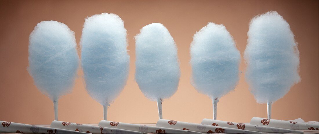 Blue Raspberry Cotton Candy in a Row