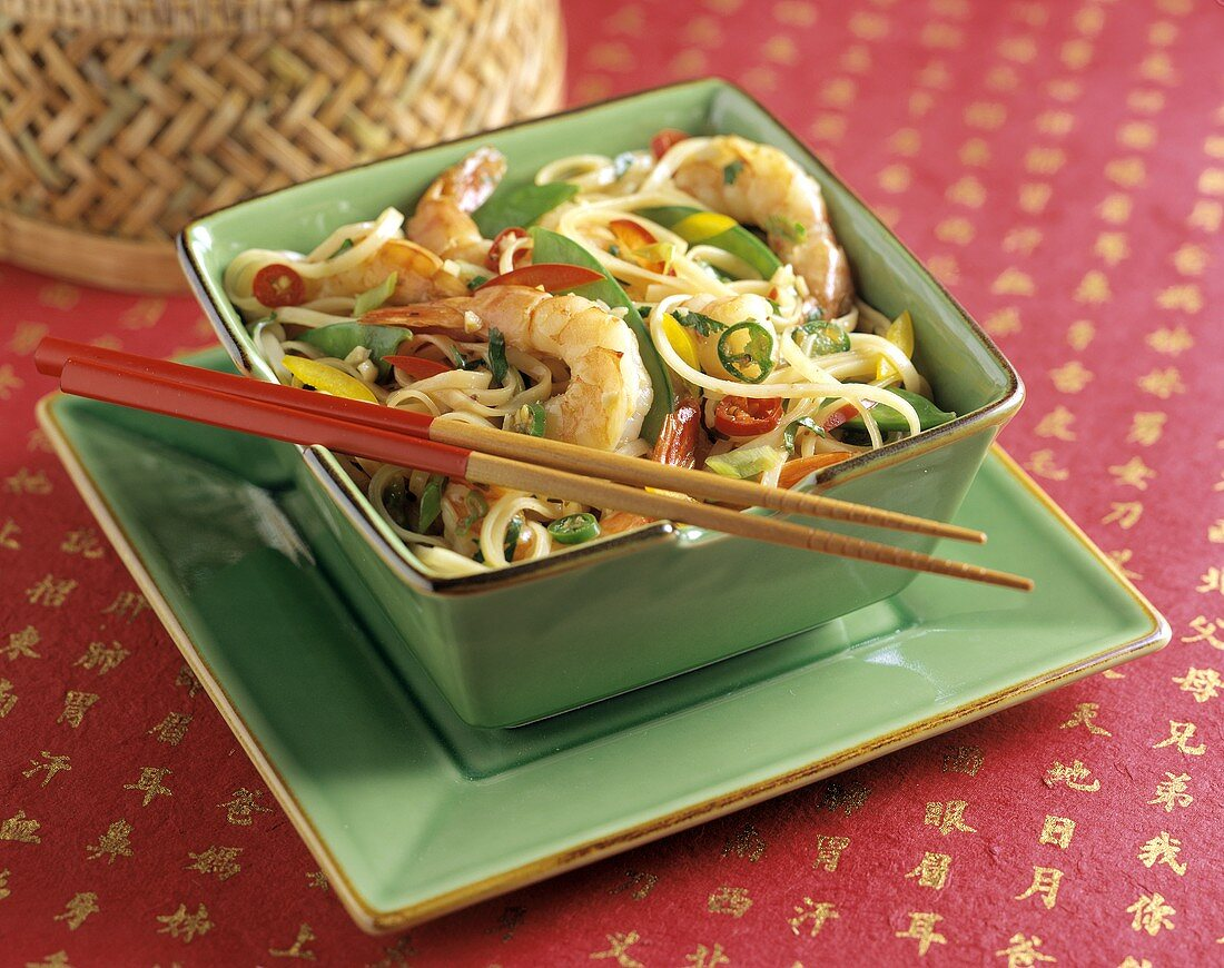 Oriental Shrimp with Noodles and Vegetables