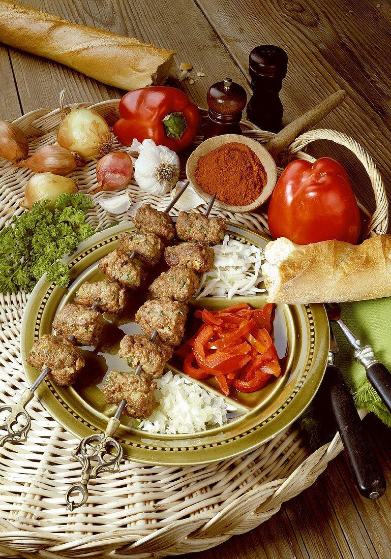 Hearty Ground Meat Skewers