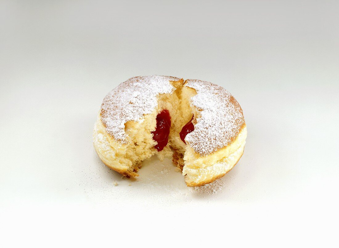 Doughnuts with red jam