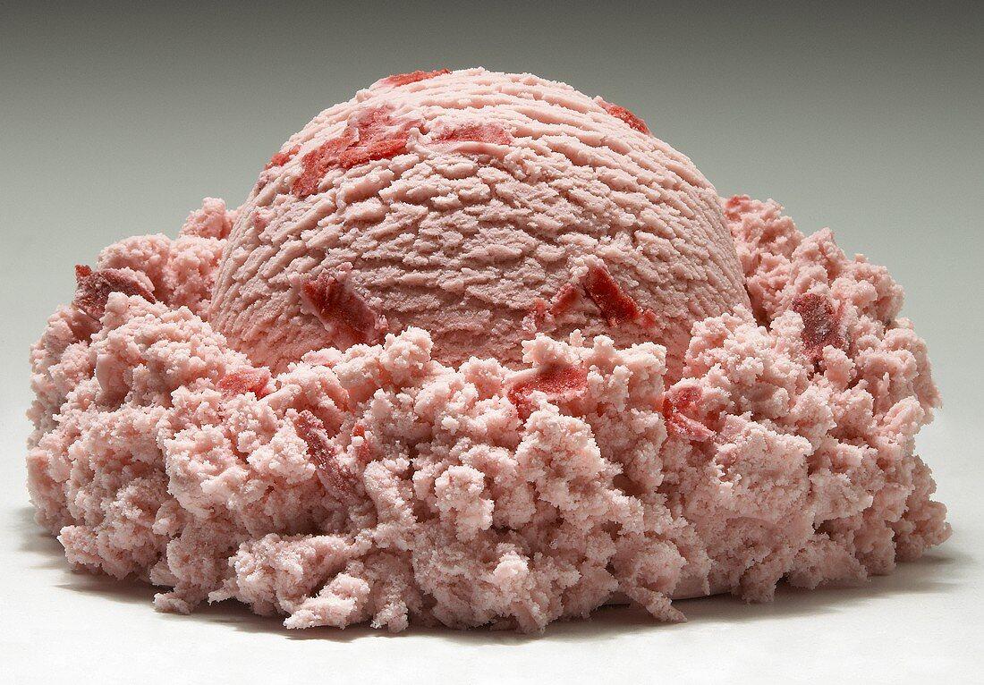 A Single Scoop of Strawberry Ice Cream