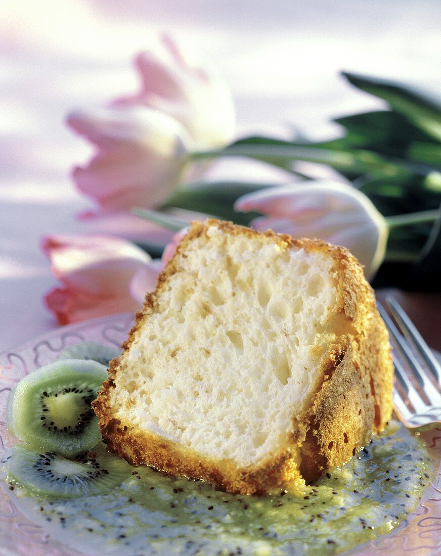 A Piece of Angel Cake with Kiwi