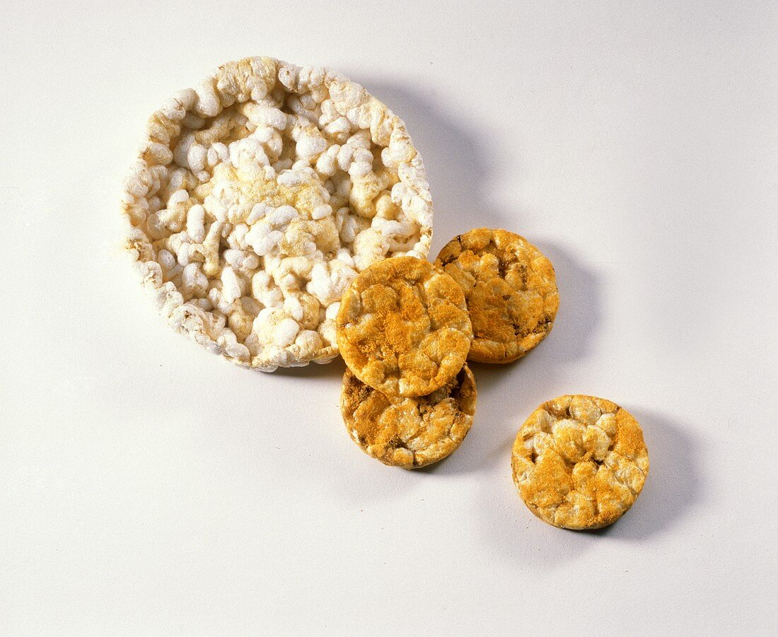 One Big Rice Cake with Four Small Cheese Rice Cakes
