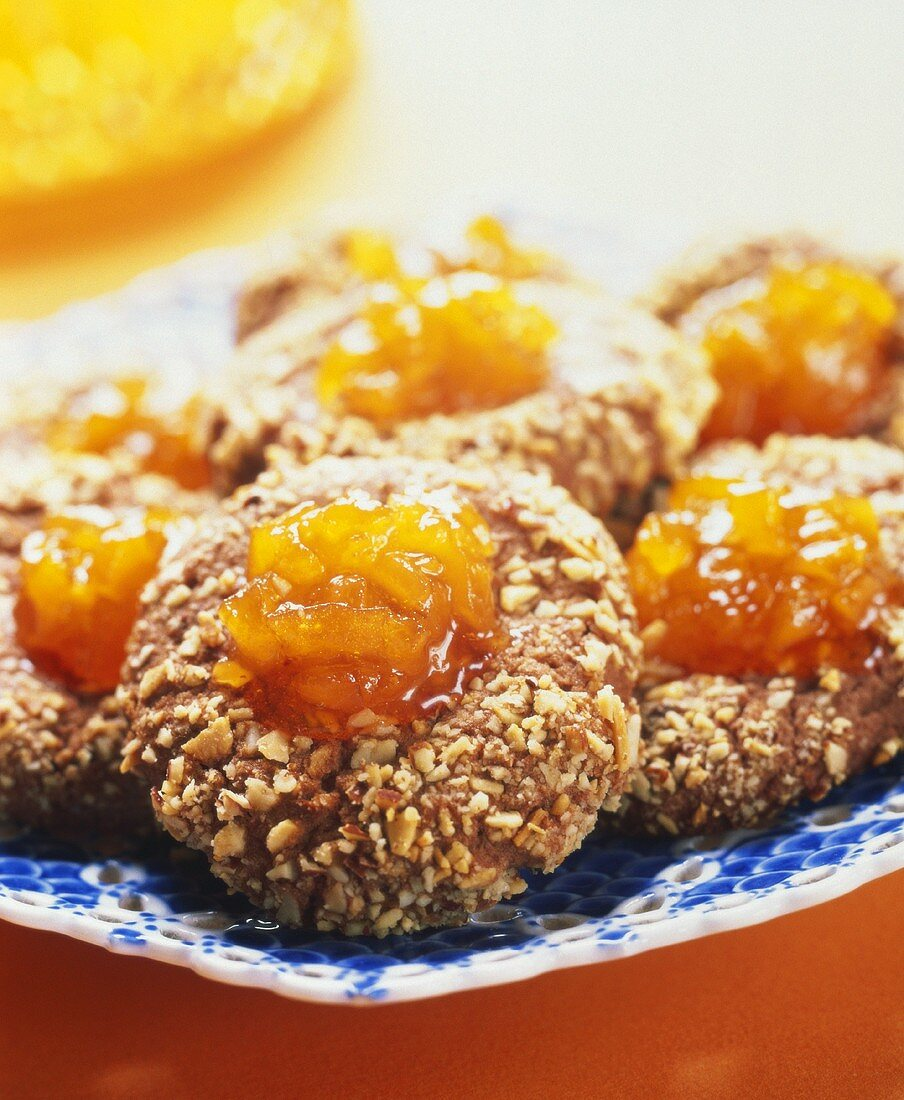 Cocoa Apricot Cordial Cookies