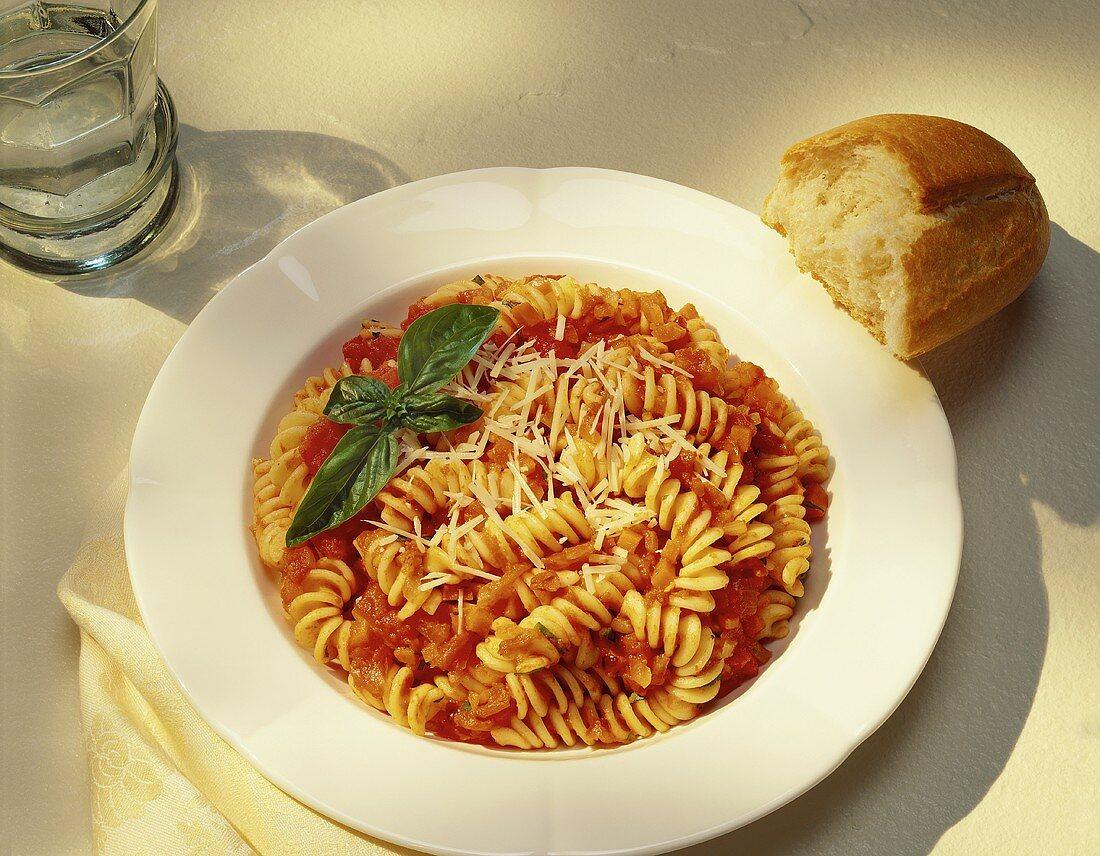 Spiral Pasta in Tomato Sauce