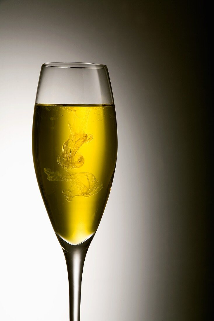 Close Up of a Glass of Pernod