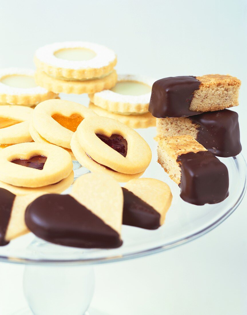 Assorted Cookies on Cake a Cake Platter