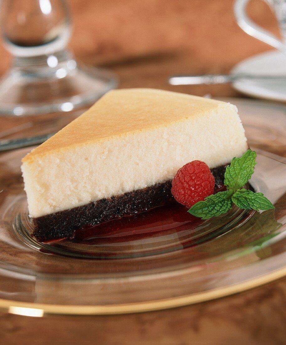 A Slice of Black Bottom Cheesecake