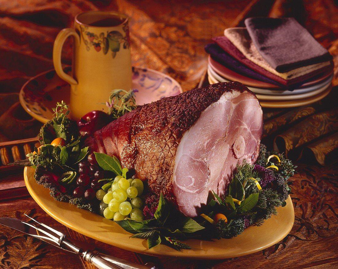 Baked Ham on a Platter