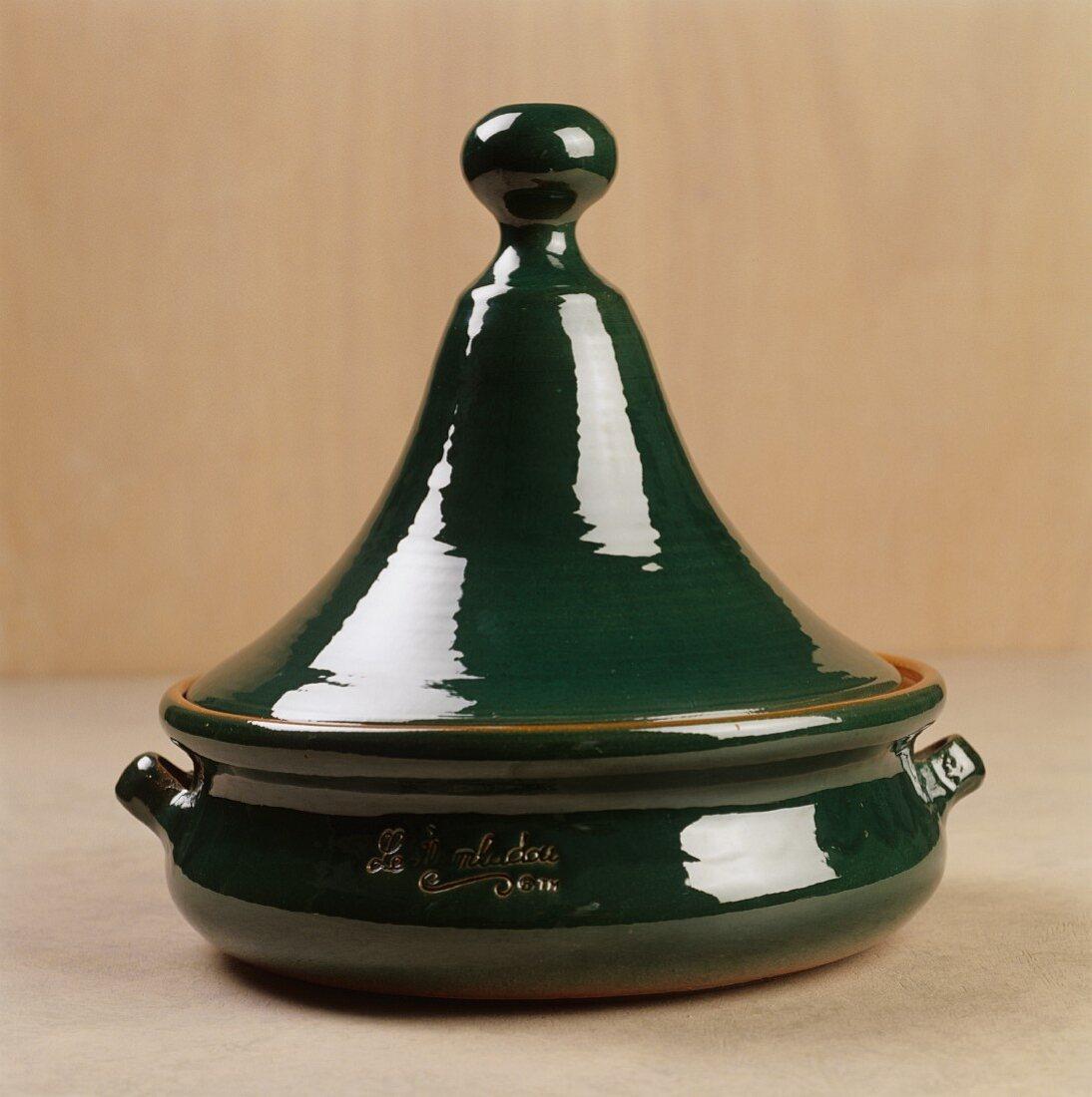 A Green Tajine Pot