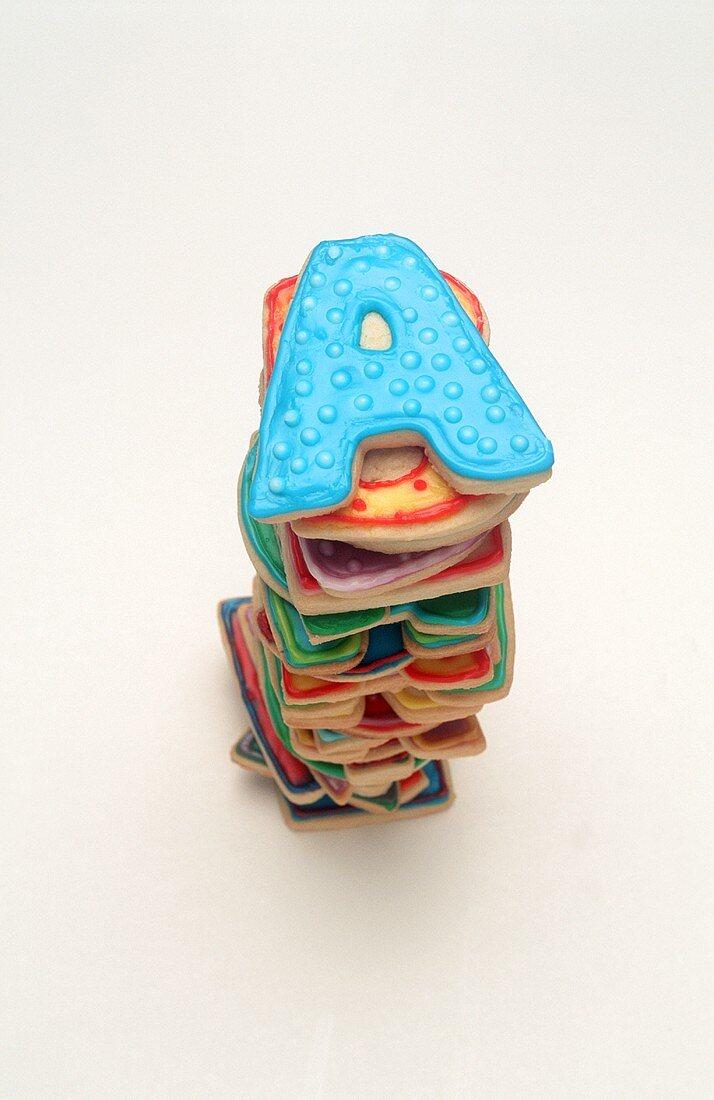 Stack of Alphabet Cookies