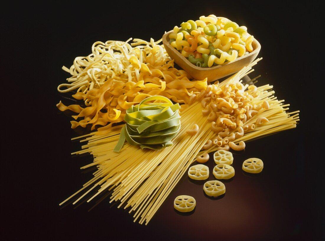 Mixed noodle still life