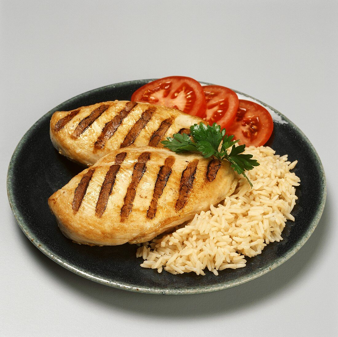 Two Grilled Chicken Breast with Rice