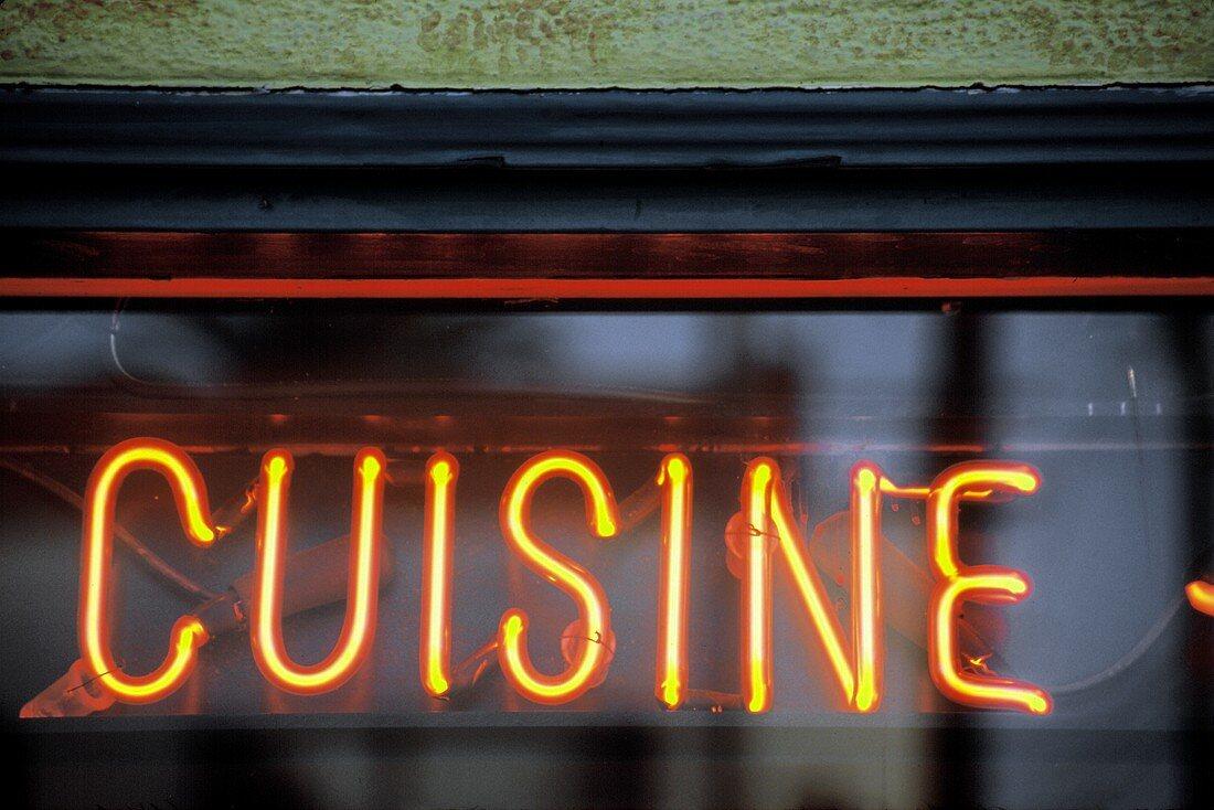 """Cuisine"" Neon Sign"