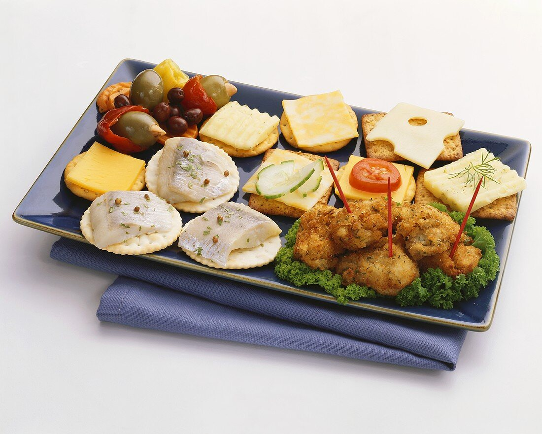 Assortment of Hors d'Oeuvres on a Platter